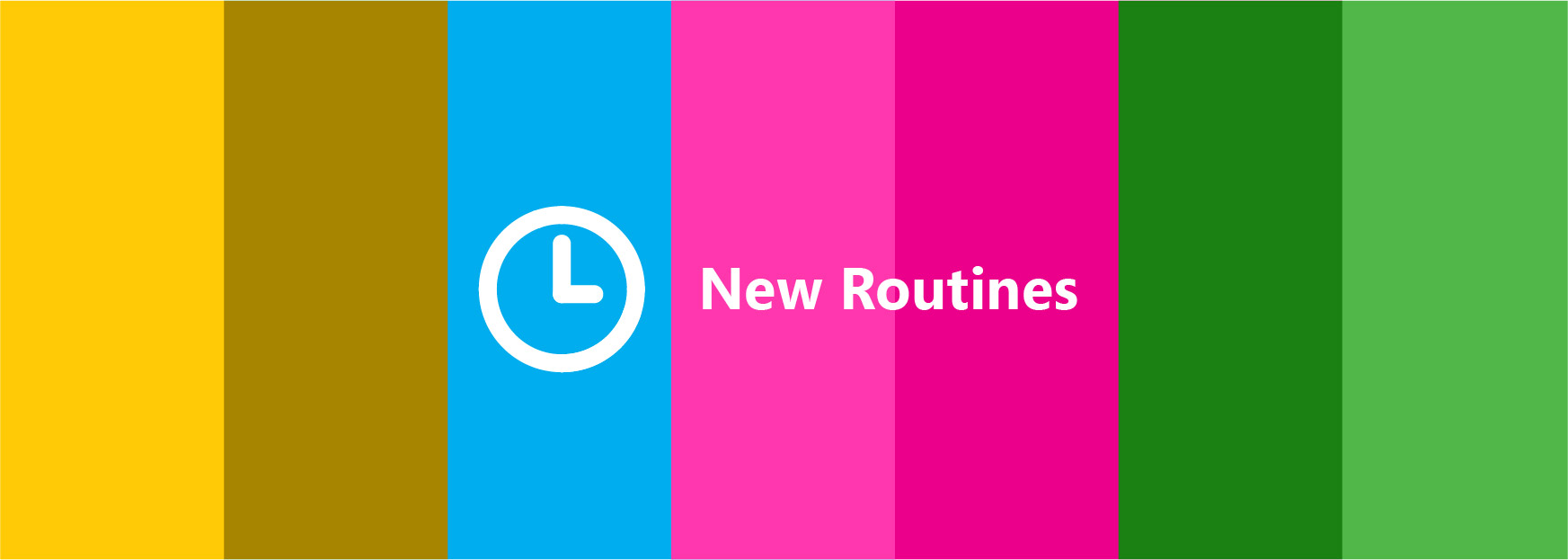 Clock banner New Routines
